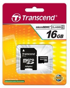 cartão de memória microsdhc 16gb transcend classe 4