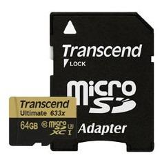 cartão de memória microsdxc 64gb transcend ultimate 633x