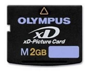 cartão de memória olympus xd-card, 2gb. ultimas