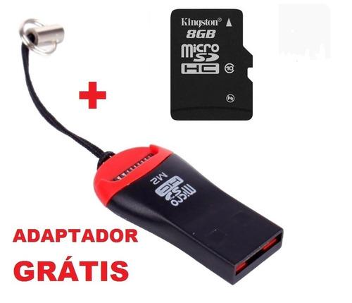 cartão de memória sandisk 100% original 8gb +adapt. grátis