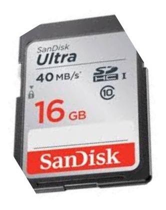 cartão de memória sandisk 16gb 40mbs classe 10 envio em 24hs