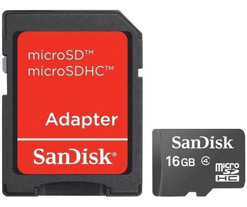 cartão de memoria sandisk 16gb micro sd com adaptador 25759