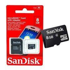 cartão de memória sandisk 8 gb