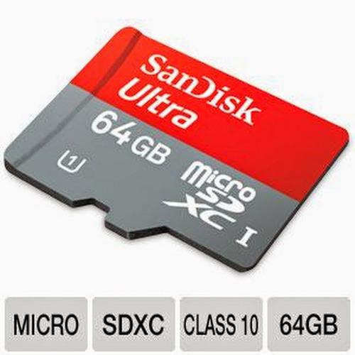 cartão de memória sd 64gb sandisk ultra class 10 (no brasil)