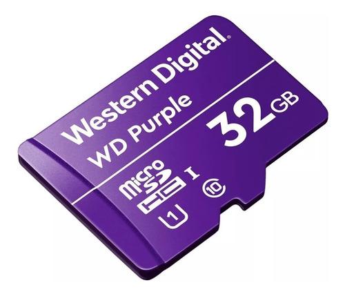 cartão de memória western digital wdd032g1p0a wd purple 32gb