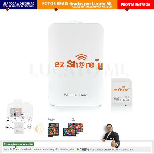 cartão de memória wifi sd 32gb ez share classe 10 dslr | np