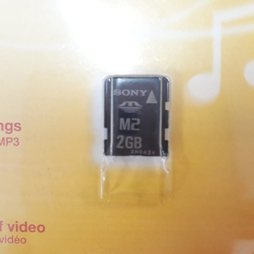 cartão de memory stick micro m2 2gb - sony