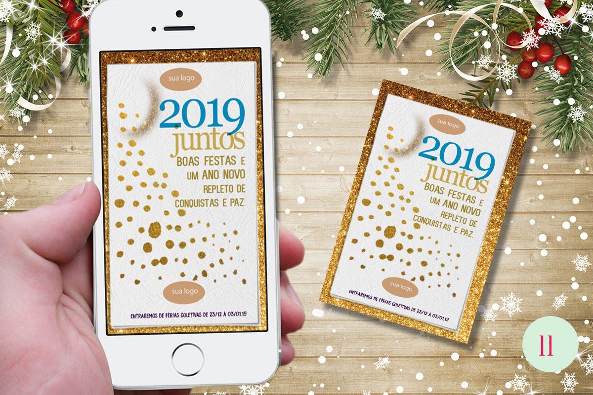 Cartão De Natal Corporativo E Mail Whatsapp E Facebook