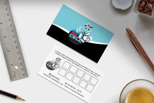 cartão de visita 1000 unid - arte inclusa