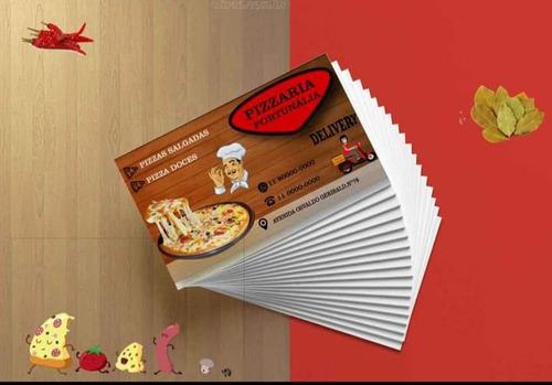 cartão de visita 250g 500 unidades r$ 54,00