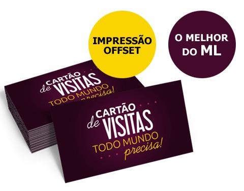 cartão de visita 250g 500uni cor frente verniz total r 23 00