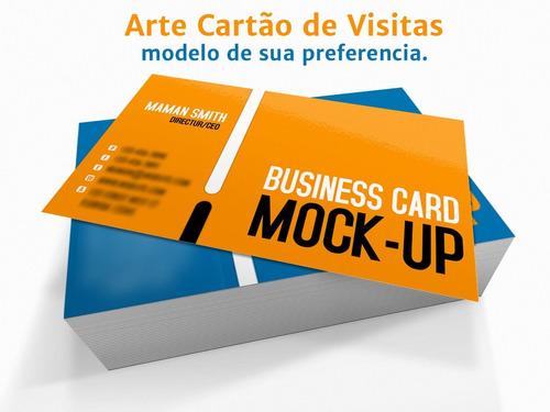 cartão de visita arte profissional em corel ou photoshop