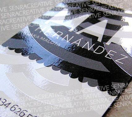cartão de visita, cartões de visita - verniz localizado