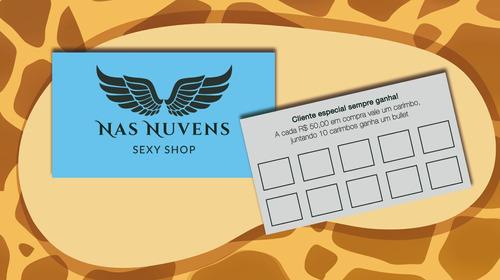 cartão de visita com arte inclusa
