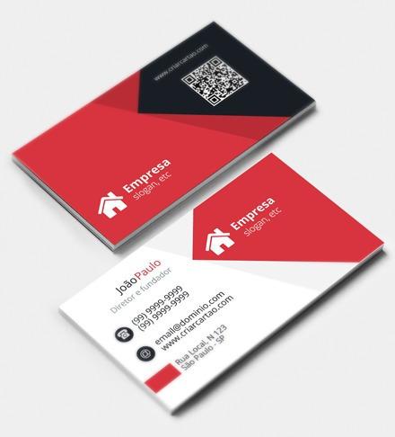 cartão de visita couche 300g 2500 unidades