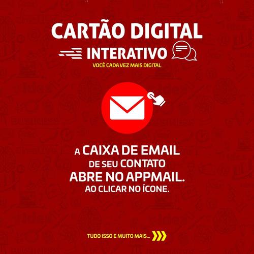 cartão de visita digital e interativo.