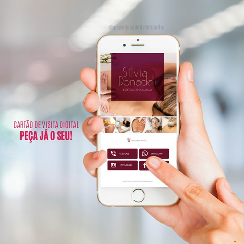 cartão de visita digital interativo + brinde cartão qr code