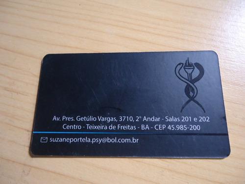 cartão de visita fosco verniz localizado - 300gr -4x4-1000un