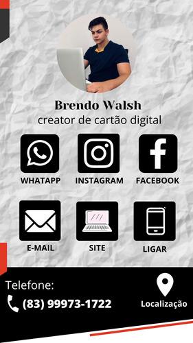 cartão de visita interativo digital (e-card) em link ou pdf.
