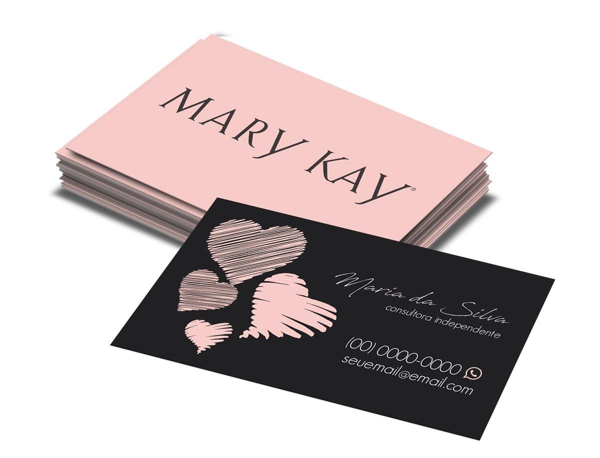 cartão de visita mary kay 1000 unidades r 85 99 em mercado livre