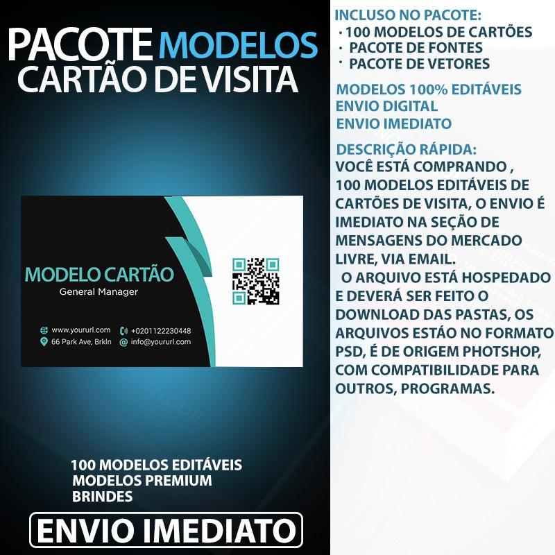 Cartão De Visita Modelo Editavel Psd