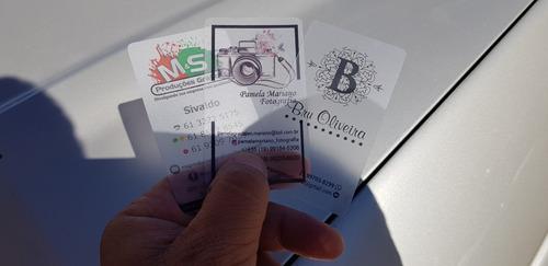 cartão de visita pvc transparente - 1000 un