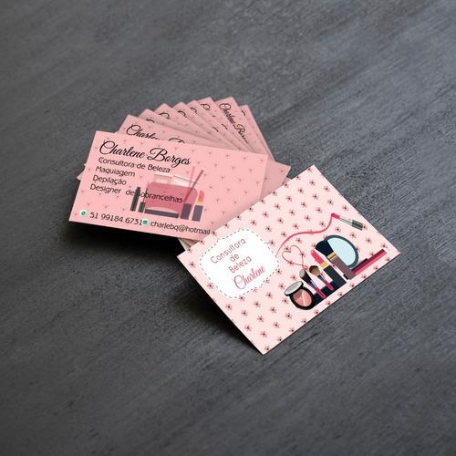 cartão de visita simples frente e verso colorido