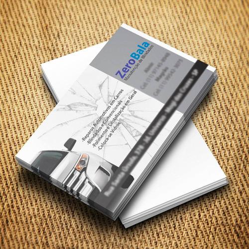 cartão de visita verniz localizado couchê 300g 1000und 4x0