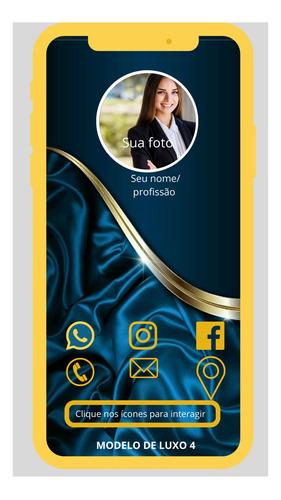 cartão de visitas digital interativo, cartão inteligente