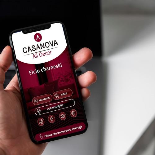 cartão de visitas interativo virtual açaí e sorveterias