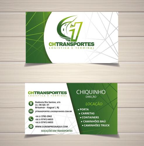 cartão de visitas personalizado