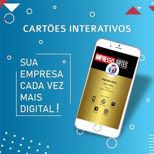 cartão de vista interativo