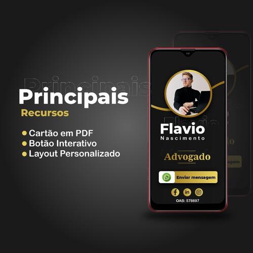 cartão digital interativo e personalizado para advogados