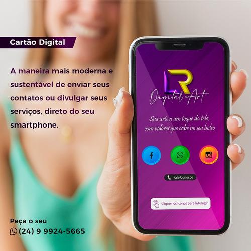 cartão digital interativo + flyer