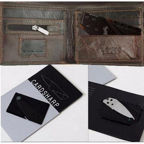 cartão faca lamina afiada dobrável credito carteira original