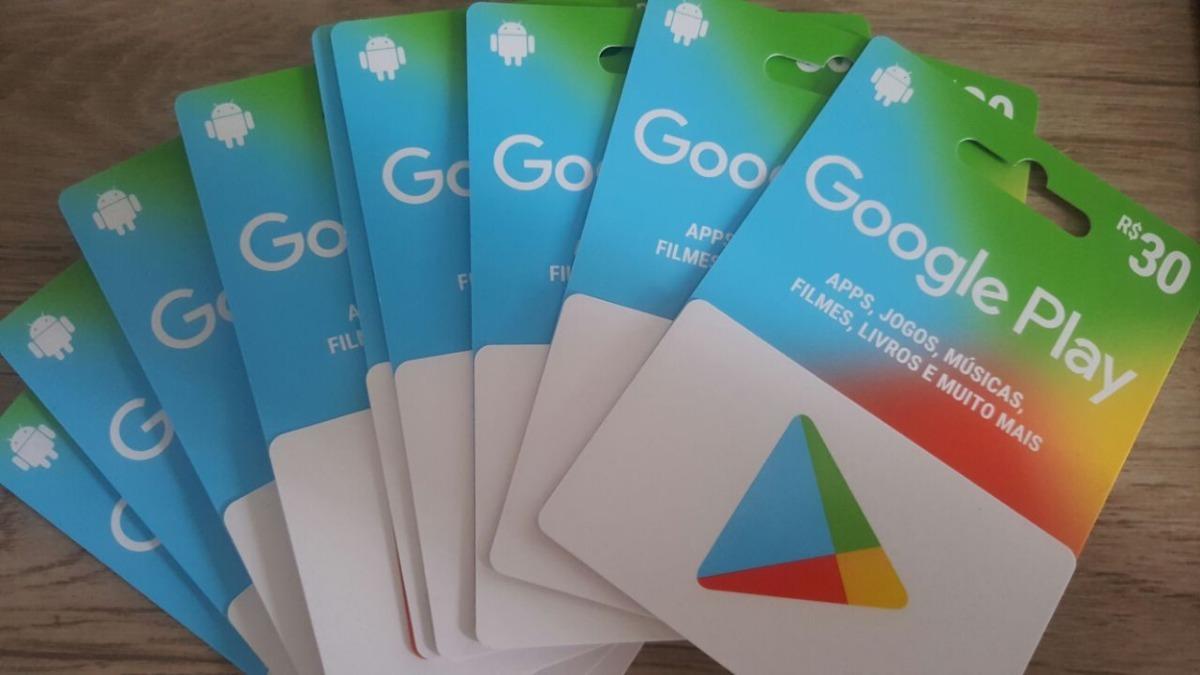 02c7b0847d31 cartão google play 30r  gift card brasil envio em 10 minutos. Carregando  zoom.