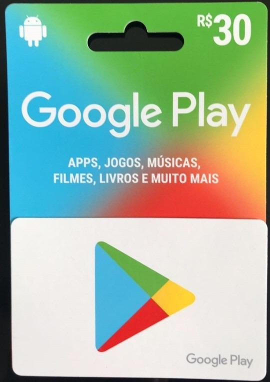 ab49ef9767c5 Cartão Google Play 30r  Gift Card Brasil Envio Em 10 Minutos - R  38 ...