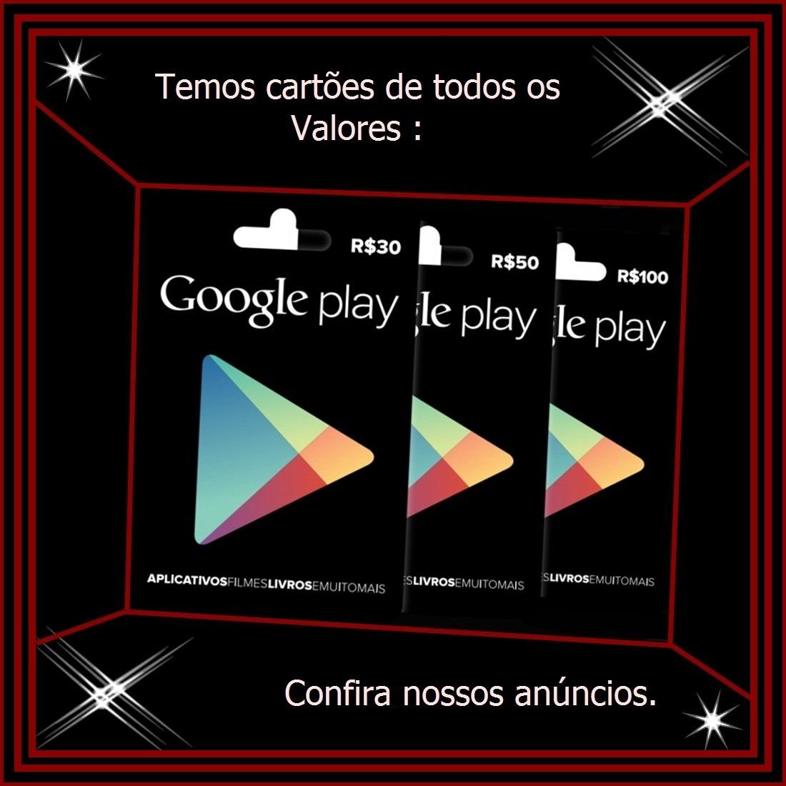 3742c83088c7 cartão google play brasil r 100 reais - gift card 100 reais. Carregando  zoom.