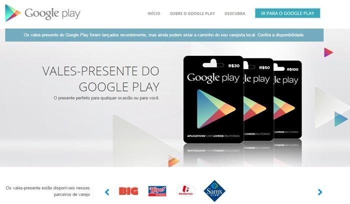 9eaba90dd965 Cartão Google Play Brasil R 100 Reais - Gift Card 100 Reais - R  111 ...