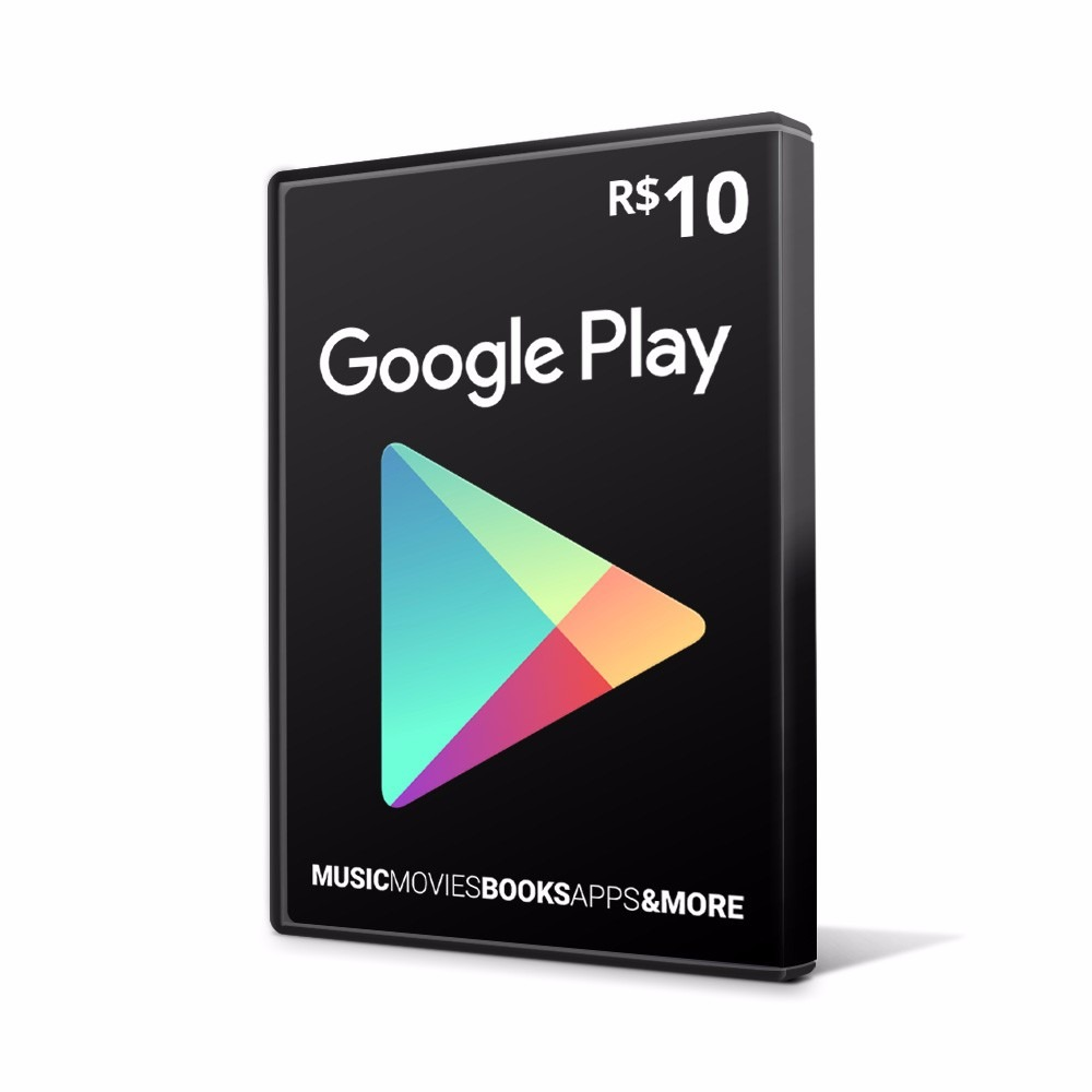 cart o google play gift card 10 reais br android playstore. Black Bedroom Furniture Sets. Home Design Ideas