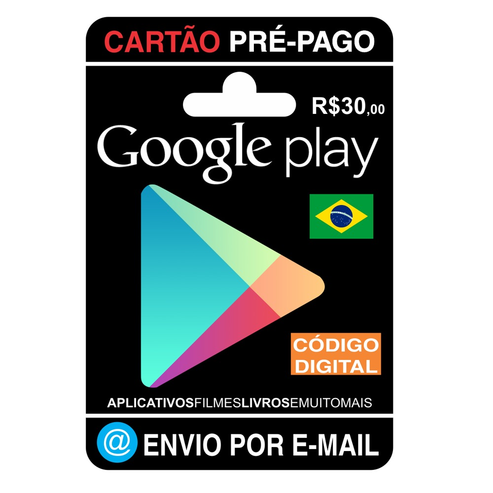 54389f8604f3 cartão google play store gift card r 30 reais br android. Carregando zoom.