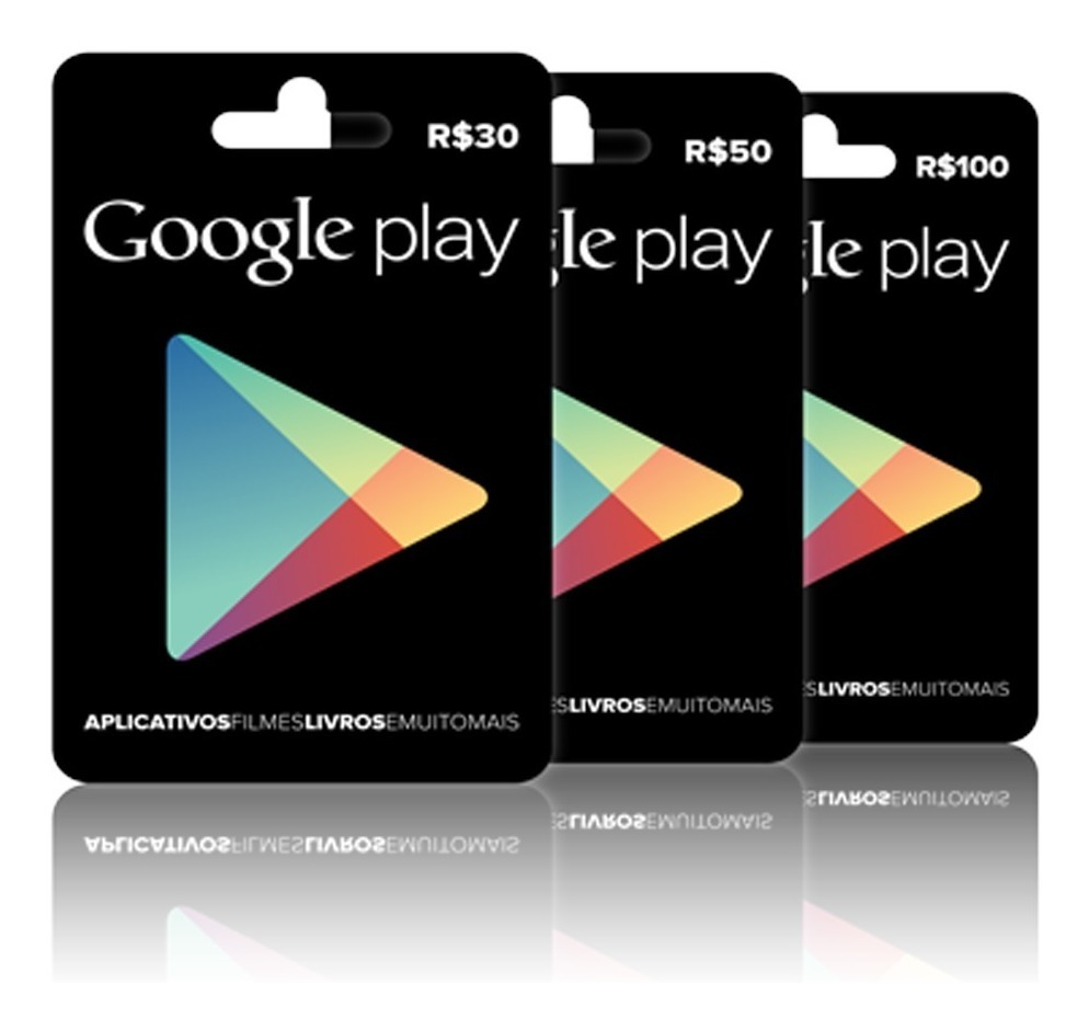 Cartão Google Play Store Gift Card R$30 Reais Br Android ...