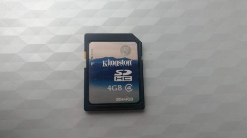 cartão kingston 4gb sd hc class 4 - microsd original