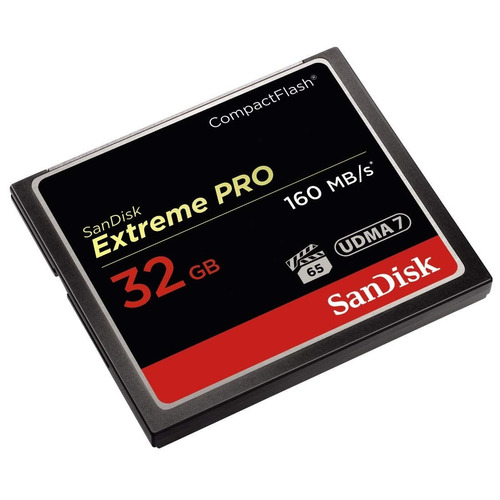 cartão mem compact flash cf 32gb sandisk extreme pro 160mb/s