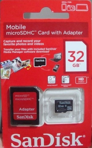 cartão memória 32gb sandisk