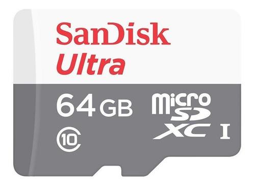cartão memória 64gb classe 10 sandisk  original j6,j7,j8...