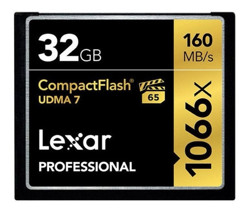 cartão memória cf lexar pro  32gb 160/mb/s 1066x na caixa