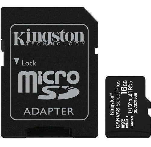 cartão memória kingston micro sd 16gb canvas select sdhc