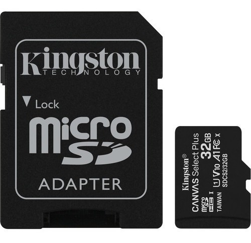 cartão memória kingston micro sd hc 32gb canvas select plus