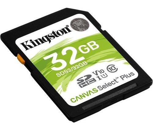 cartão memória kingston sd hc 32gb canvas select plus uhs-i